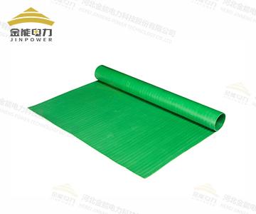 绿色条纹绝缘胶垫|配电室防滑绝