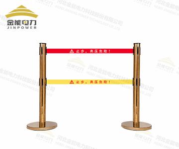伸缩不锈钢警示带围栏 一米线 银