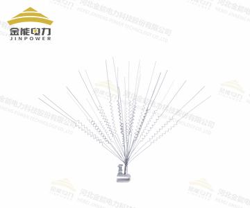 电力线路不锈钢丝驱鸟刺 直丝弹簧丝高压电塔镀锌铁丝防鸟刺