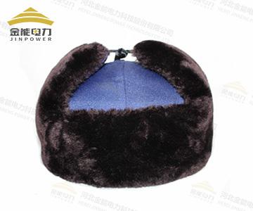 冬季羊剪绒保暖安全帽
