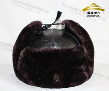 冬季保暖仿羊剪绒棉质安全帽