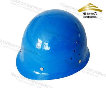蓝色玻璃钢安全帽 电力施工抗压