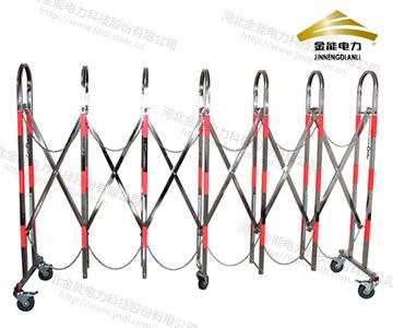 不锈钢拱形伸缩围栏红白相间 带